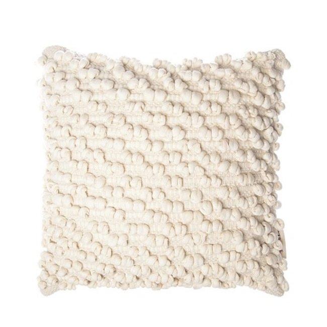 Cushion 45 x45 pom pom creme