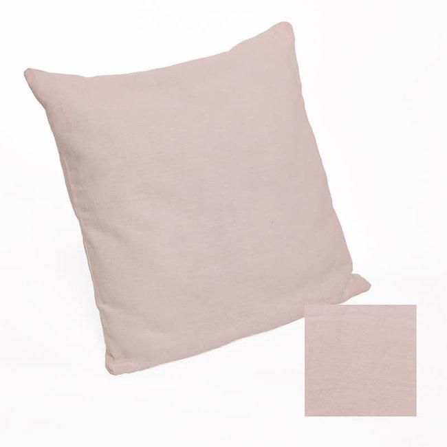Kussensloop linnen stonewash dusty pink 60x60 cm