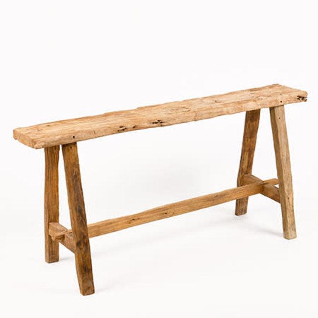 bank teak hout 90x20x50 cm