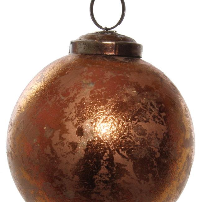 glass ball antique copper 7,5 cm