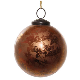 shishi glass ball antique copper 9,5 cm