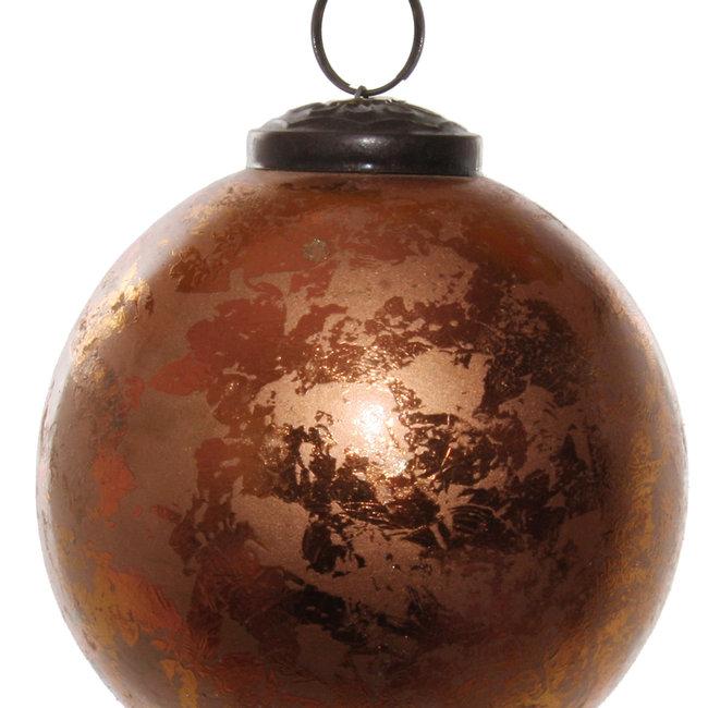 glass ball antique copper 9,5 cm