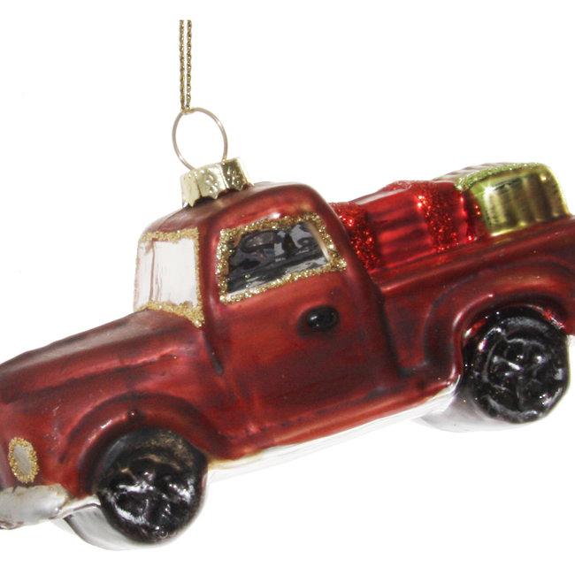 glas car aged red 11 cm