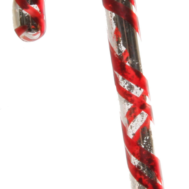 glass candy silver red 11 cm