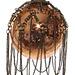 shishi glass bal with chain antiqe copper 7,5 cm