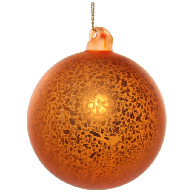 shishi Glass ball antique mat orange 8 cm