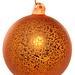 shishi Glass ball antique mat orange 8 cm