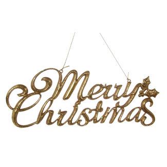 shishi merry christmas ornament gold 20 cm