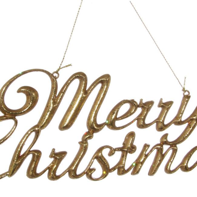 merry christmas ornament gold 20 cm