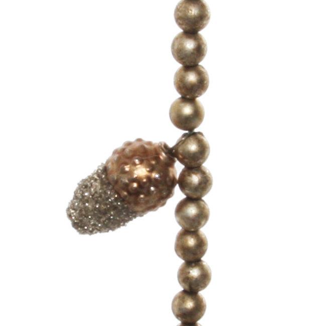glass bead acom garland silver 180 cm