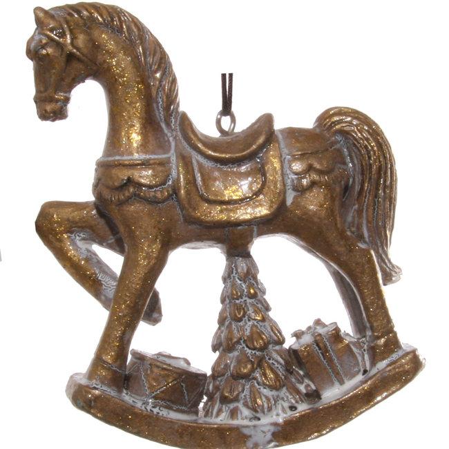 rocking horse gold 10 cm
