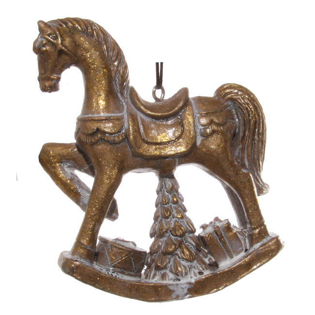 shishi rocking horse gold 10 cm