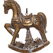 shishi rocking horse gold 10 cm