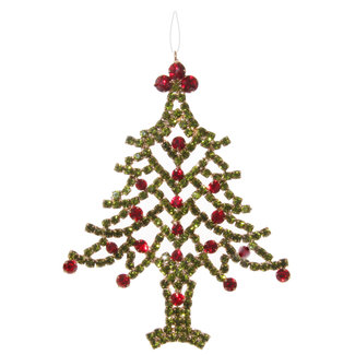 shishi Diamond tree green red 12 cm