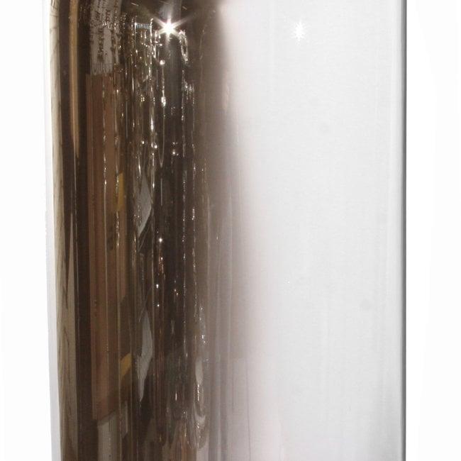 Glass dome half silver 30x58 cm