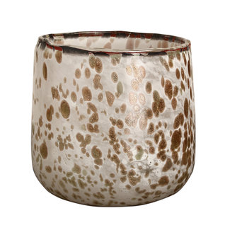 PTMD tortoise white with gold tealight s
