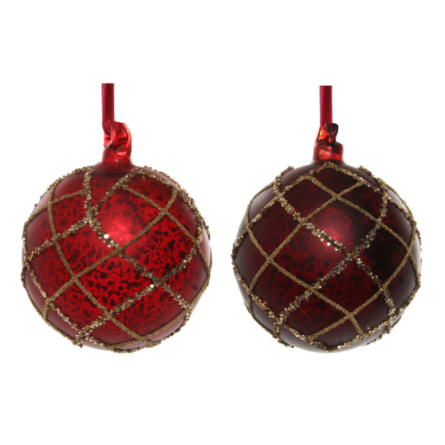 shishi glass ball mat red antique bead glitter  s