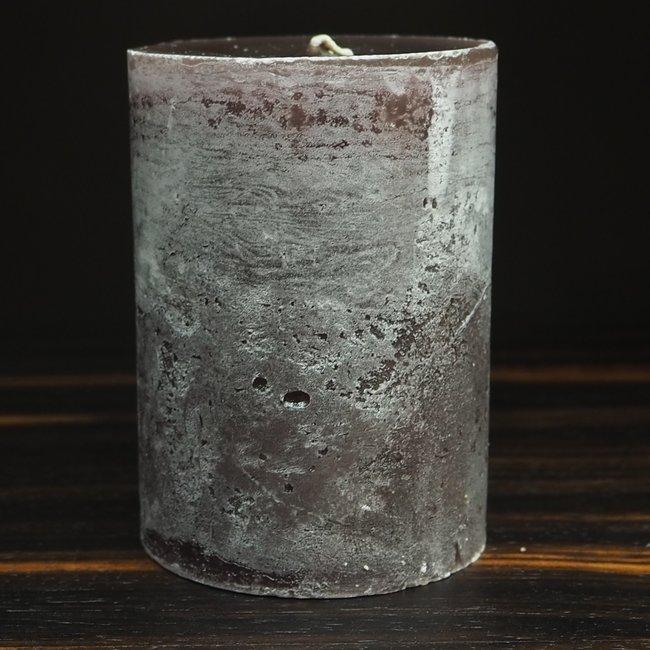 cylinder kaars dia 7x10 cm aubergine