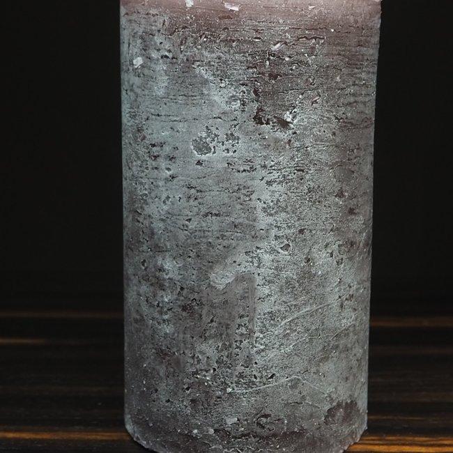 cylinder kaars 8.6x15 cm aubergine