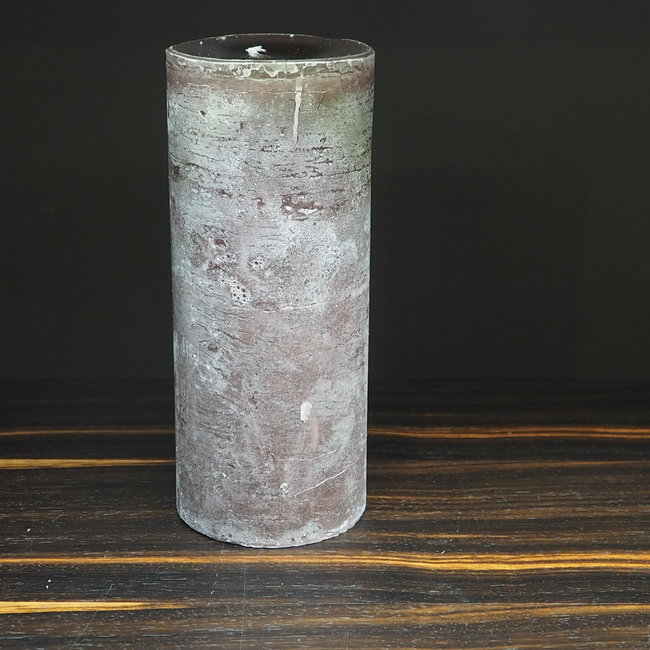 Dekocandle cylinder kaars dia 8.6x20 cm aubergine
