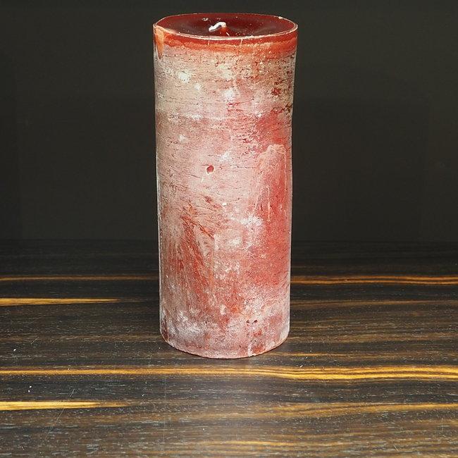 Dekocandle Cylinder kaars 8.6x20 cm red stone