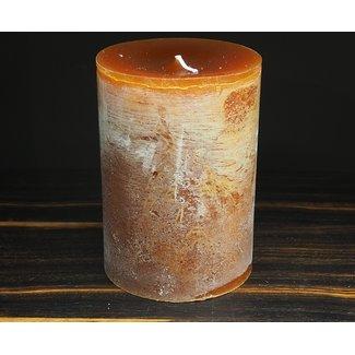 Dekocandle cylinder kaars dia 10x H15 cm cognac
