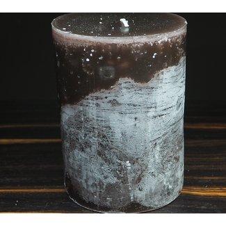 Dekocandle cylinder kaars dia 10x15 cm aubergine