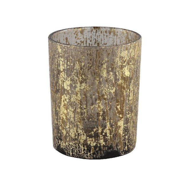 Fluflu brown glass stormlight glitter round l