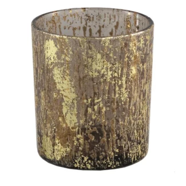 fluflu brown glass tealight glitter round s