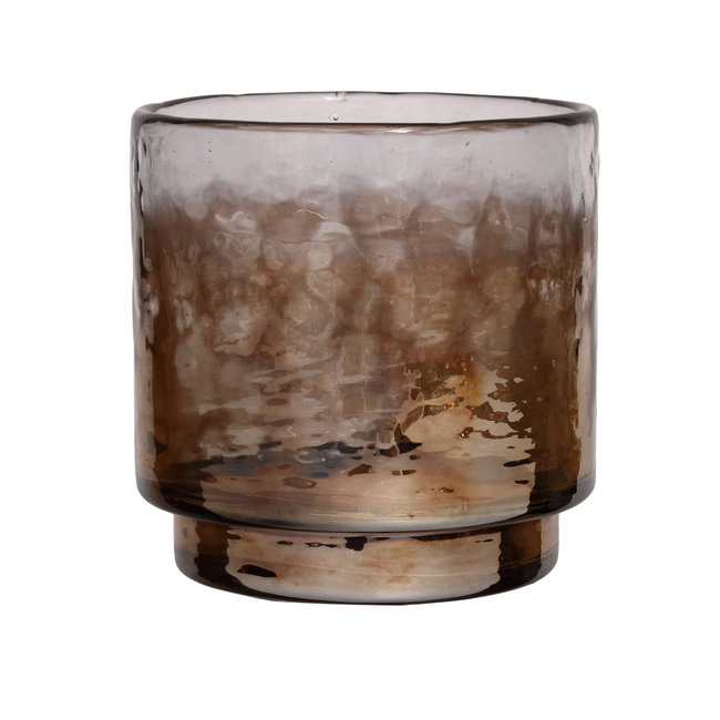 Senne brown luster glass tealight s