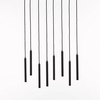 Marckdael ceiling lamp 1408-s8-rect-led-nero 3000k