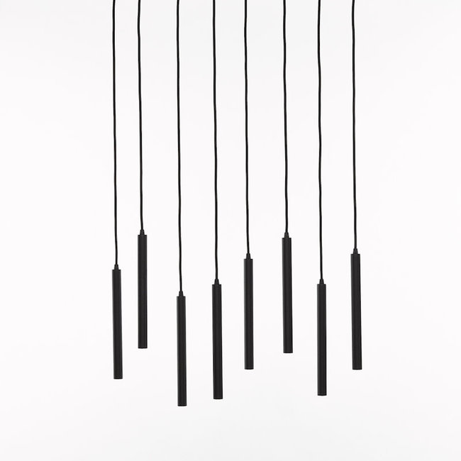 ceiling lamp 1408-s8-rect-led-nero 3000k