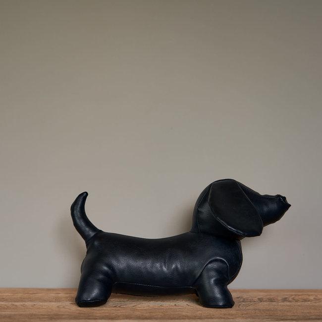 deurstop sausage dog black