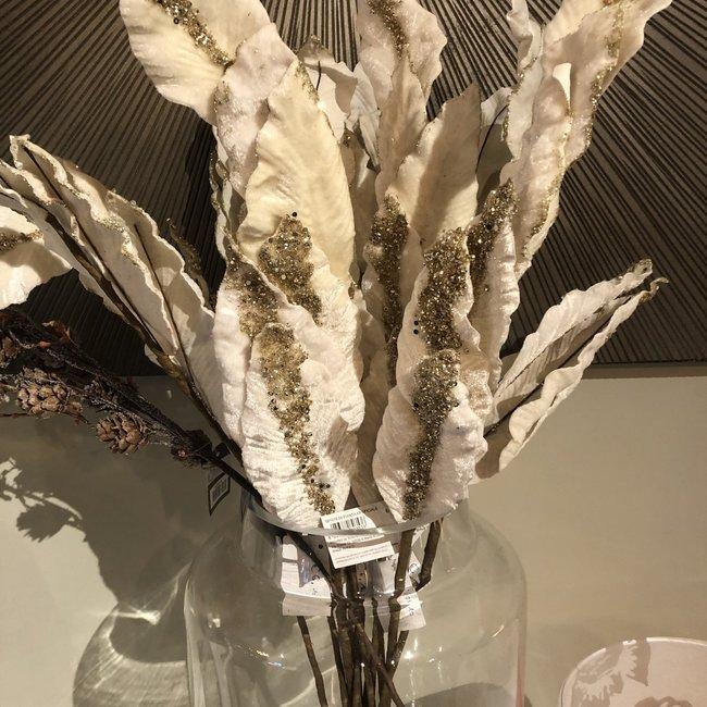 kunsttak magnolia ivoor glitter