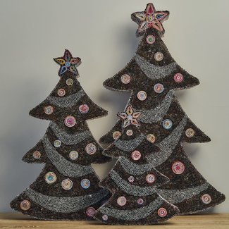 JF The Reborn Home Xmas tree recycled paper brown 62 cm