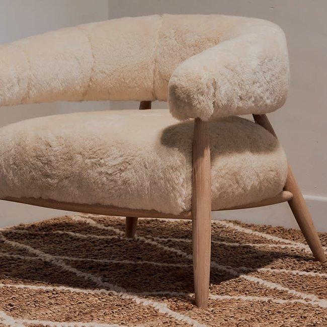 Seat oakben Milan wool