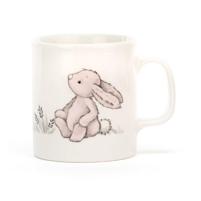 Bashful pink Bunny Mug