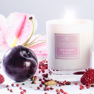 marmade of London Pink pepper & Plum glass candle