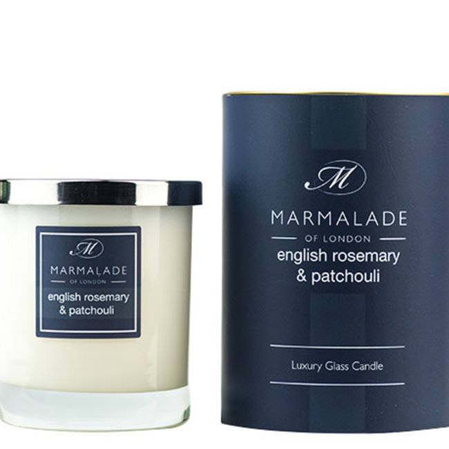 English Rosemary & Patchouli glas candle