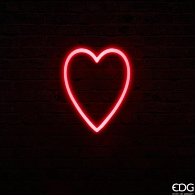 Neon led coeur large H40x32