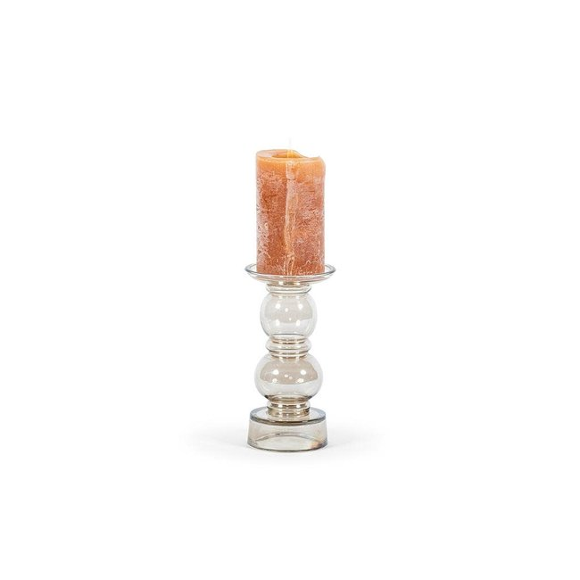 Dekocandle glass chandelier 2 boll oyster dia 11x23