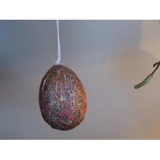 PTMD Darci Brown easter poly hanging egg art