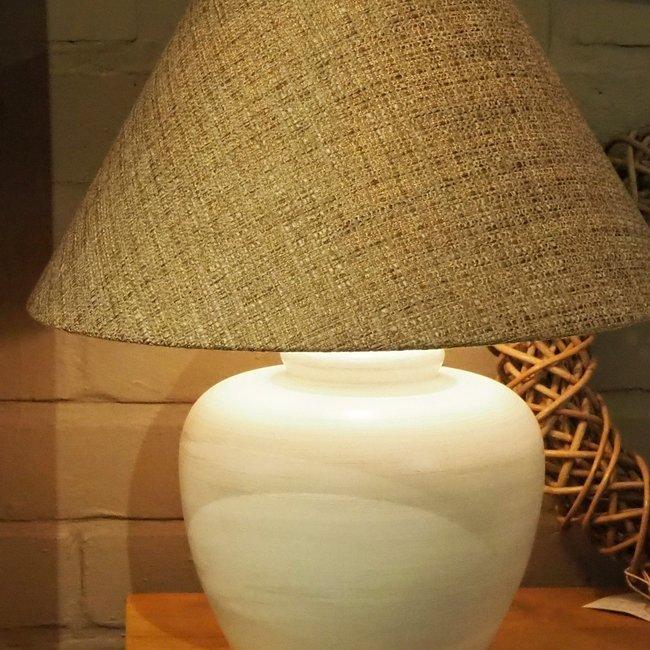 Lucca large white H 33 cm tafellamp