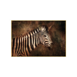 PTMD Glass art foto zebra