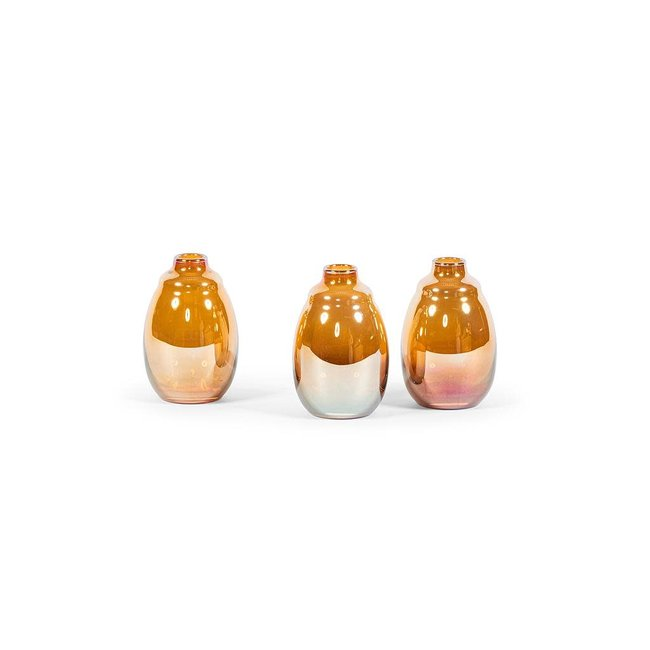 Dekocandle soliflower  amber dia 9,5x14,5 cm