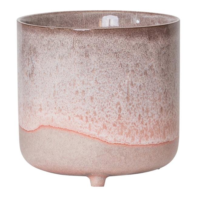 PTMD Kacie roze terracotta pot 11,5x11,5x12,5