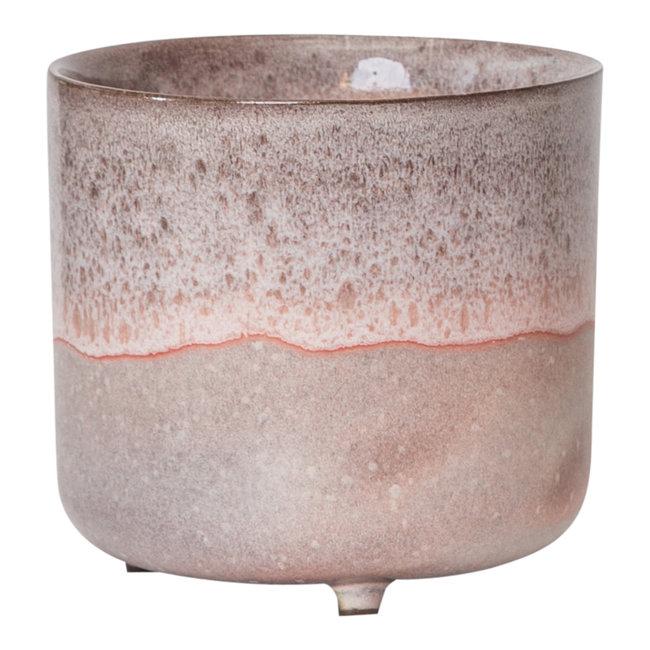 Kacie roze terracotta 14x14x15