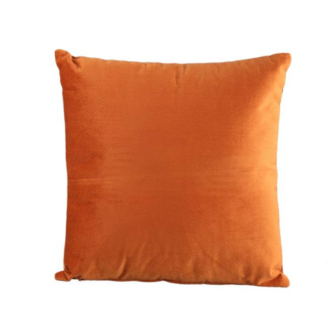Janne velvet rust cushion square