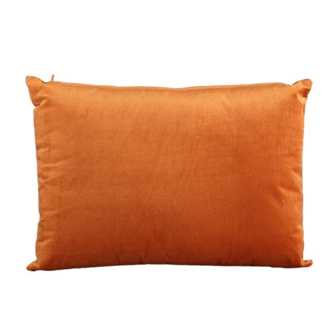 Janne velvet rust cushion retangle