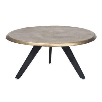 PTMD Cosimo brass aluminium coffee table round L